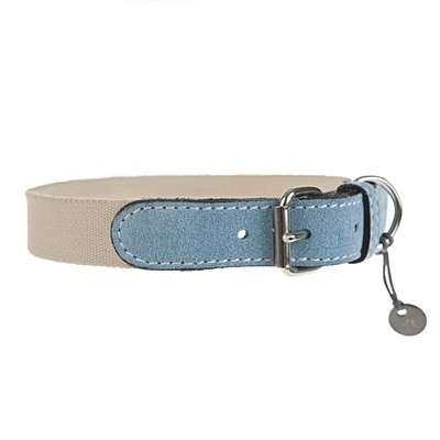 Mungo & Maud - Baseball Dog Collar Bluebell