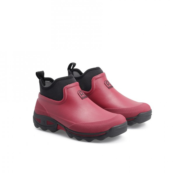 Rouchette CLEAN LADY Ankle Boots Prune
