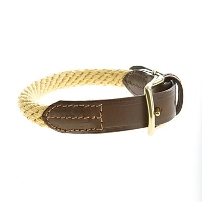 Mungo & Maud - Rope Dog Collar Natural
