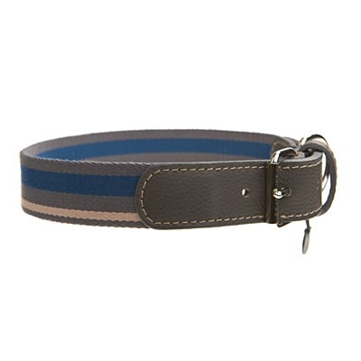Mungo & Maud - Asymmetric Dog Collar Steel