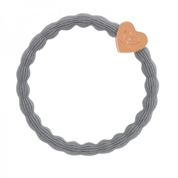 by Eloise Rose Gold Heart   Storm Grey