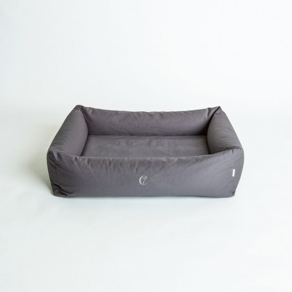 Cloud 7 - Hundebett Sleepy Organic Canvas Stone Grey