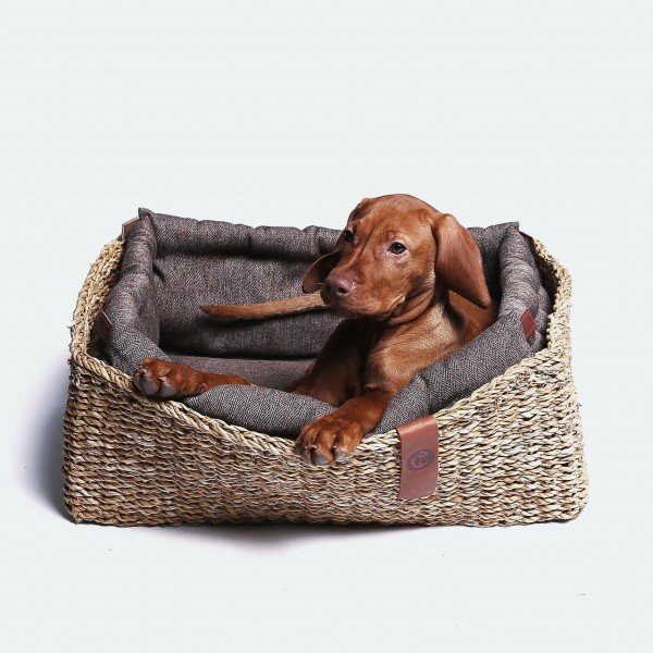Cloud 7 - Hundebett Hideaway Herringbone brown