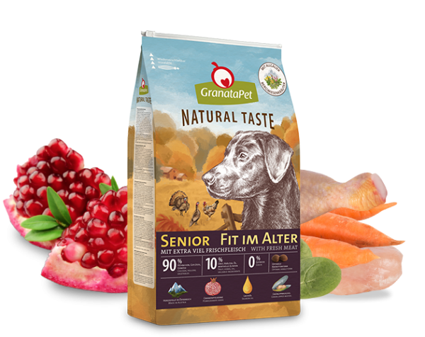 GranataPet Natural Taste Senior - Fit im Alter